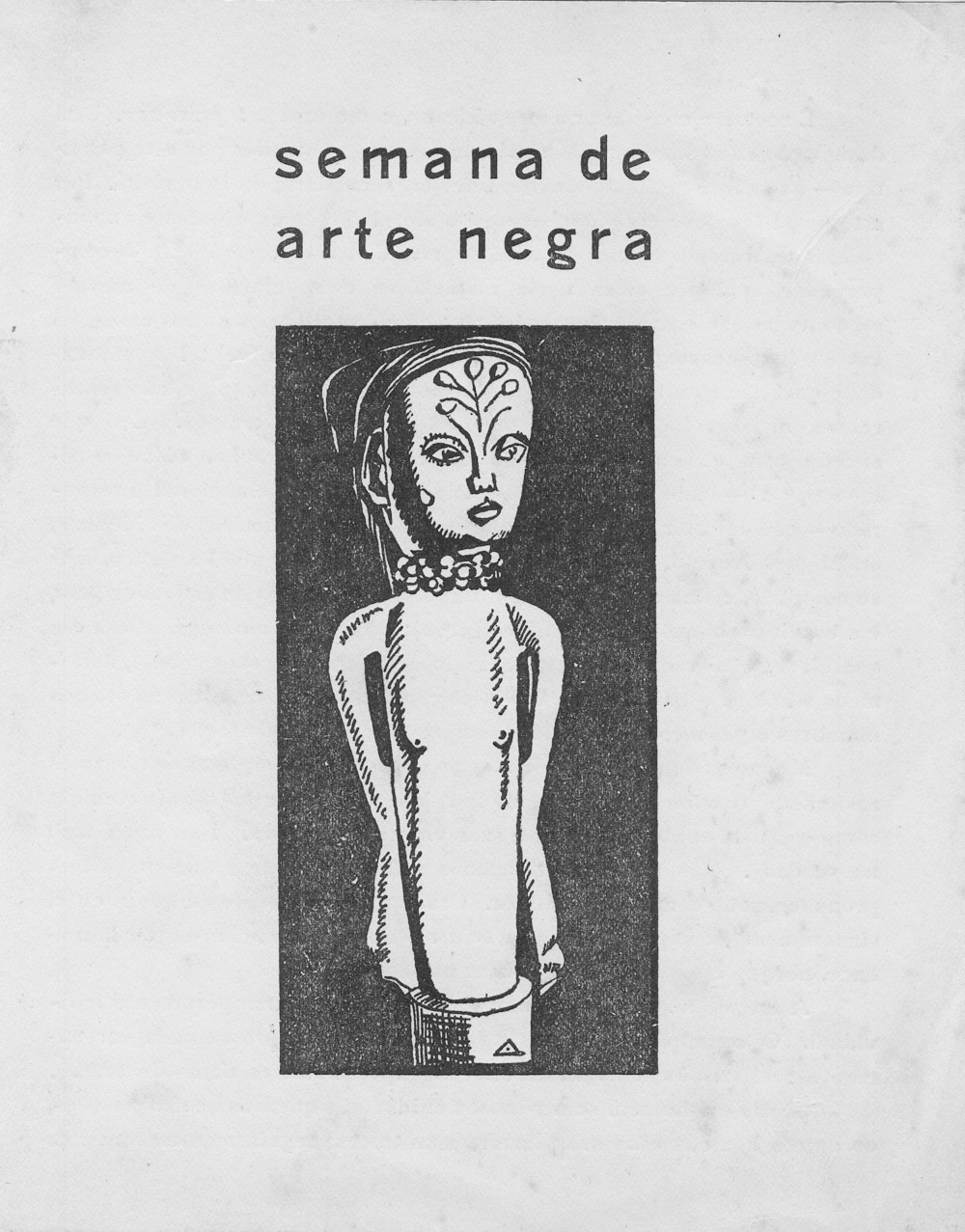 Cover of the booklet of the Black Art Week exhibiton, 1946.
