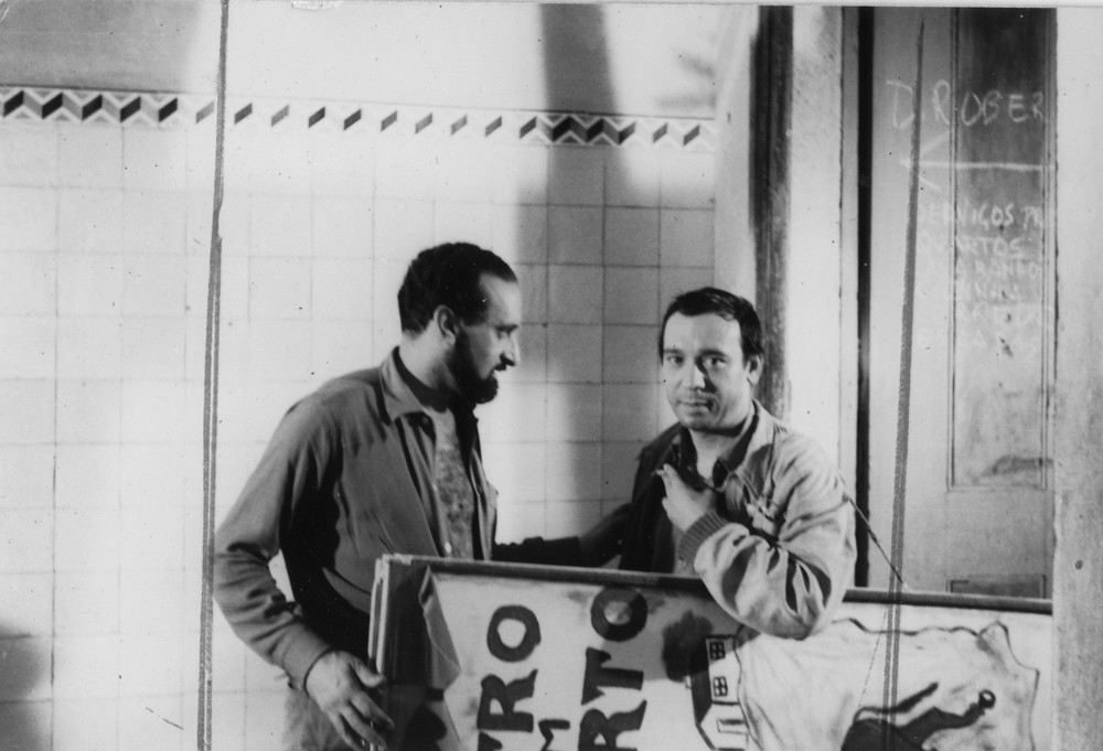 Ernesto de Sousa and Raul Solnado during the filming of Dom Roberto, 1961.