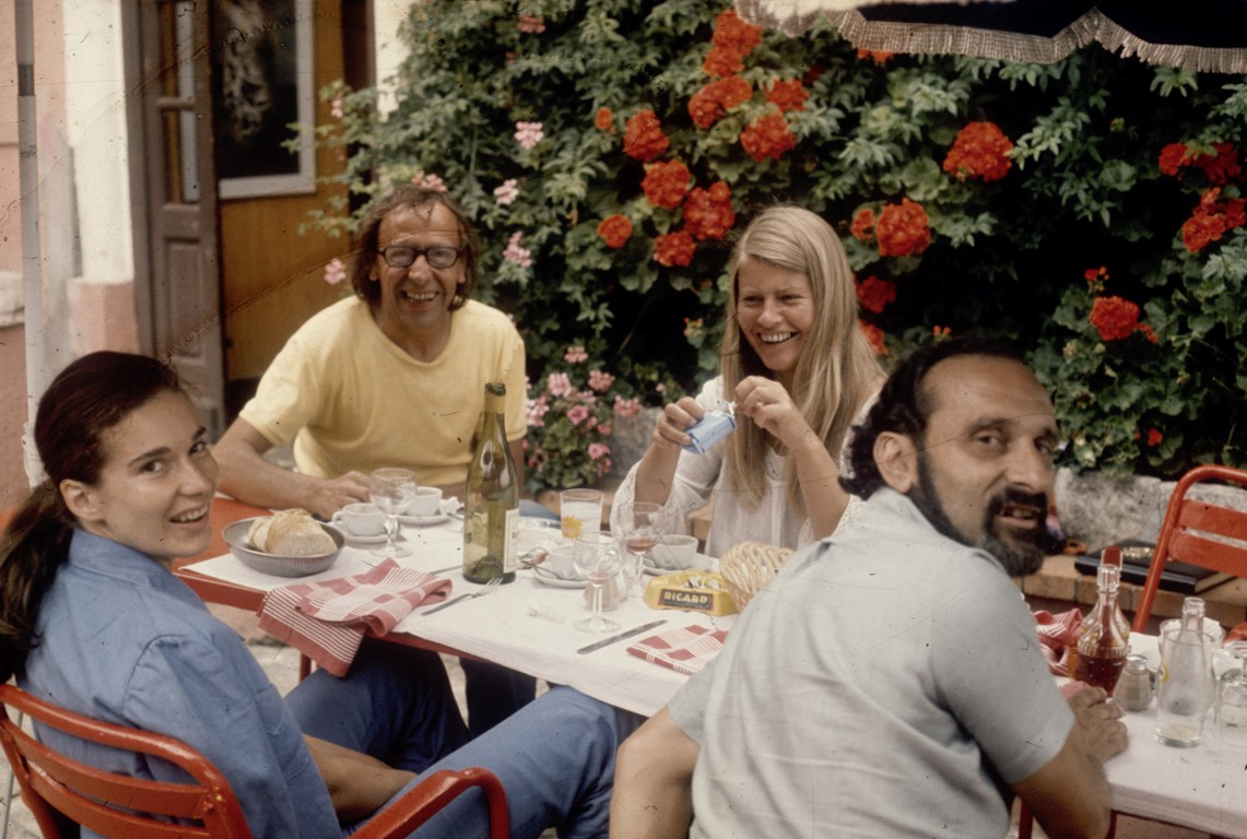 Lunch with Robert and Marianne Filliou in St. Paul de Vence, 1973