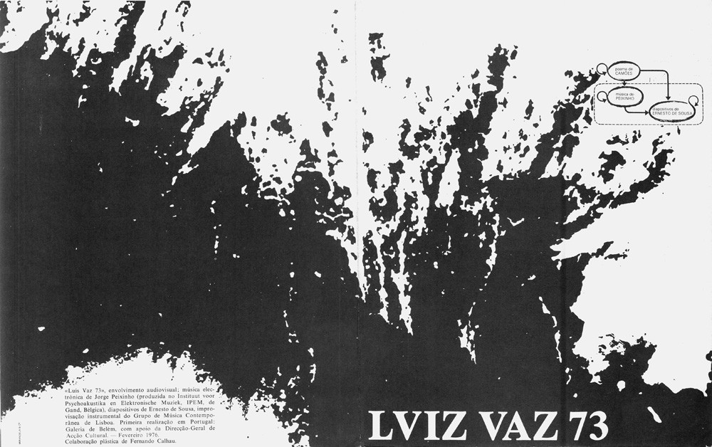 Luiz Vaz 37, cover of the brochure of the presentation in Lisbon, 1976.