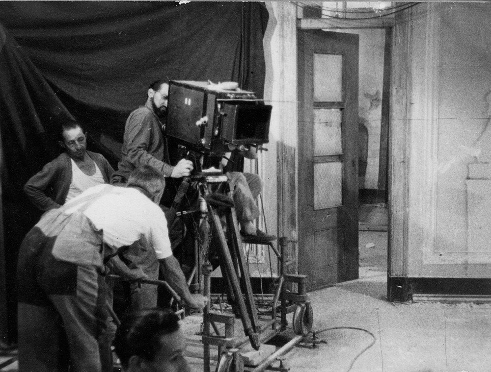 Filming of Dom Roberto, 1961.