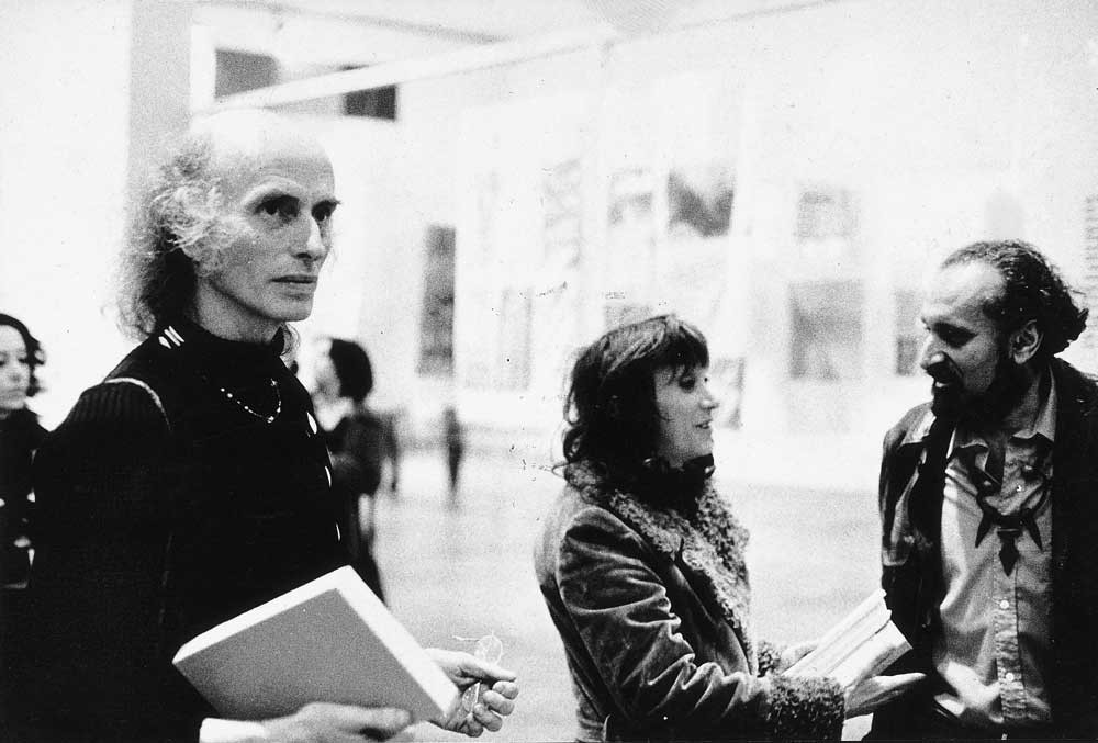Judith Malina and Julian Beck from the Living Theatre with Ernesto de Sousa at Alternativa Zero, 1977.